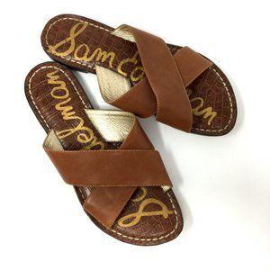Sam Edelman Kora Double Strap Leather Slip On Shoe